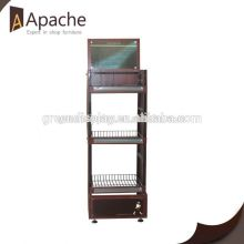 Fully stocked supermarket cardboard pocket floor display stand
