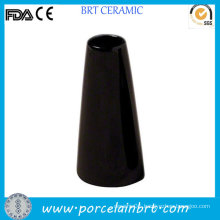 Black Tower Design Simple Flower Porcelain Vase