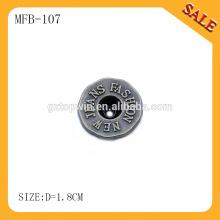MFB107 La alta calidad al por mayor al por mayor imprimió el botón del broche de presión para los pantalones vaqueros / chaquetas