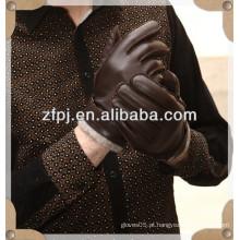 Luva de couro de veado de qualidade premium em forro de cashmere