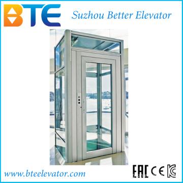 Ce Mrl Vvvf elevador panorâmico Home com cabine de vidro