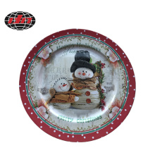 Plastic Charger Plate with Snowman