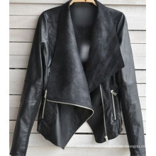 Winter Women Coat Motorcycle PU Leather Jacket