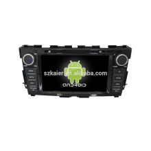 Quad core! Dvd do carro com link espelho / DVR / TPMS / OBD2 para 8 polegada tela sensível ao toque quad core 4.4 sistema Android NISSAN TEANA