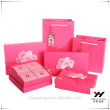 2018 Yonghua Selected Design Pink Wedding Gift Paper Box Combination