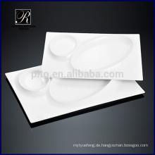 Küche heißes Design Keramikplatte Geschirr Rectangle Platte Sonne Mond See