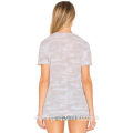 2017 оптовой конструкции способа изготовленный на заказ печати 100% хлопок V шеи женщин обычная футболка