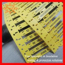 Laço de cabo elástico da identificação resistente de alta temperatura do óleo da categoria militar