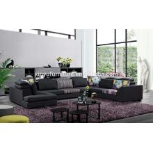 Últimas modelos de sofá seccional confortável preto KW1511