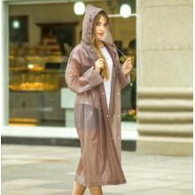 Mode-Design-Frauen in voller Länge wiederverwendbare Regenmantel