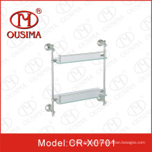 Wall Mounted Bathroom Double Towel Shelf Towel Rack