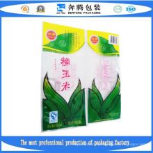 Sacos de embalagem de plástico de vácuo de milho