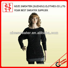 Mohair and beaded yarn sweater dresses