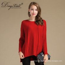 Long Sleeves Cashmere Pure Orange Girls Corea Knit Sweaters Design