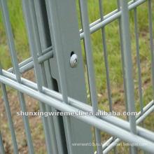 ПВХ с покрытием двойной сетки забор завод