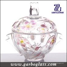 Tarro de vidrio coloreado de caramelo (GB1805LB / P1)