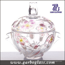Colored Glass Candy Jar (GB1805LB/P1)