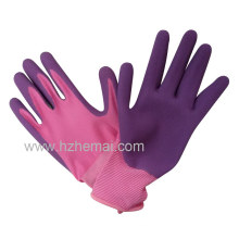 Soft Foam Latex Coated Gloves Ladies Gardening Work Glove