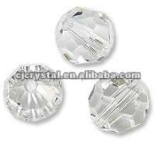 Perlas de cristal claras, perlas de cristal redondas