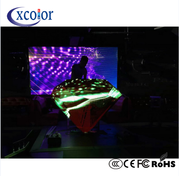 Stage background DJ Curved cabina LED