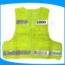 Colete de segurança reflexiva de alta visibilidade EN471