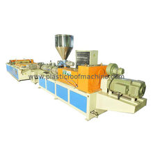 Colorful Foamed Hollow Roofing Tile Machine , Tiles Roll Forming Equipment