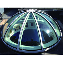 Apartment high quality double curved glass skylight manufacturer