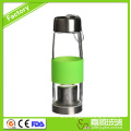 Glass Drinking Water Bottle with silicone sleeve