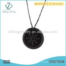 Pendentif quantique de haute qualité, bijoux pendentifs noirs, design pendentif rond