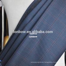 Plaid Italian finest wool suit fabric no minimum order