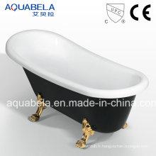 Baignoire acrylique à double extrémité en acrylique antiquité de luxe (JL622)