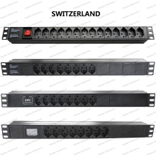 19 Inch Switzerland Type Universal Socket Network Cabinet and Rack PDU