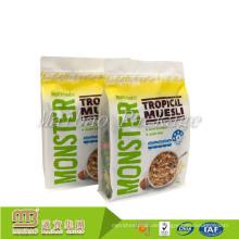 Nahrungsmittelgrad-kundenspezifische Auftrag-Seiten-Seitenfalten wiederverschließbare Schnellverschluss-Imbiss-Nahrungsmittelverpackungs-Block-untere Plastiktaschen