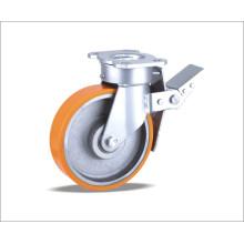 Roda giratória com roda de poliuretano