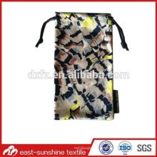 Bolsos de la bolsa de embalaje del paño de las lentes de la microfibra y caso del bolso, bolsa de los sunglass de la tela de la insignia