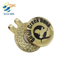 Imán de las ventas al por mayor con el clip magnético modificado para requisitos particulares de la gorra de golf con el marcador de la bola