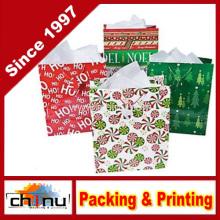 Grande saco brilhante do presente do Natal (210229)