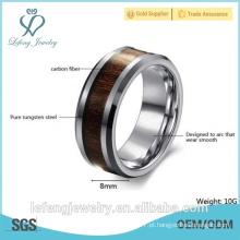 Venda quente, jóia elegante anéis personalizados do carboneto de tungstênio