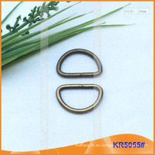 Tamaño interior 20mm Metal Hebillas, Regulador de metal, Metal D-Ring KR5055