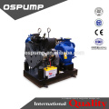 Sewer drain pump for agricuture using and trailer mounted