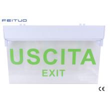 Sinal de saída de emergência, luz de emergência, sinal de saída de emergência do diodo