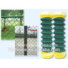 La sécurité périmétrique galvanisée ou enduite de PVC a employé la clôture de maison de treillis métallique de lien de chaîne de Cylcone