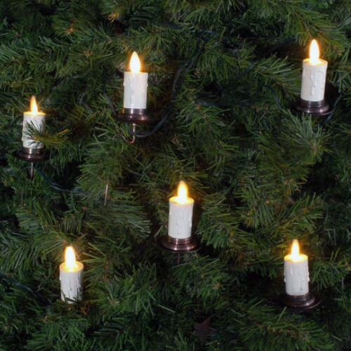moving flame christmas trees candles by jack