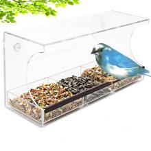 Clear Glass Window Acrylic Bird Feeder Fat