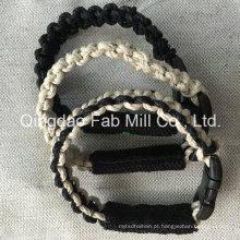 Hot Selling Moda Hemp Twine Pulseira, pulseira de cânhamo