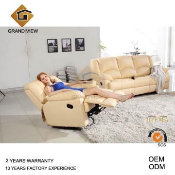 Un mobilier classique en cuir canapé du salon (GV-RS495)