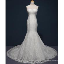 Vestido de casamento nupcial do laço da sereia