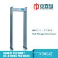4 Zonen Innengebrauch Metalldetektor Tor mit Schalter Leistung