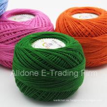 Los niños orgánicos del cordón del peso del ganchillo del algodón mercerizado hacen punto el hilado de algodón
