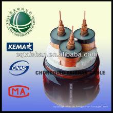 18 / 30KV Kupfer XLPE Isoliert STA PVC Best Preis Hight Qualität Stromkabel